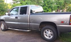 Make GMC Colour grey/silver Trans Automatic kms 158600 FOR SALE 2006 GMC SIERRA 1500 SLE EXT CAB 4WD (5.3L 8 CYL) 158,600 KM ASKING: $9,000 'AS IS' / $10,500 CERTIFIED CALL 705-255-3670
