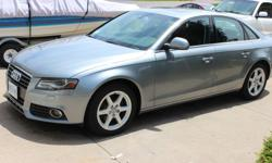 Make Audi Model A4 Year 2009 Colour sliver grey kms 95000 Trans Automatic For sale 2009 turbo-charged Audi A4 Quattro with only 95000 km. This vehicle is in excellent condition, it looks, rides and smells like new. It is fully loaded including sunroof,