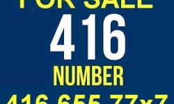 "416 Phone Number For Sale: 416.655.77x7 416.655.77x7 is a great 416 area-code telephone number for any Business or as an easy to remember personal line. The hidden digit ""x"" is blocked for privacy, ""x"" is NOT a seven. Only $150 Cash (Firm Price) Contact"
