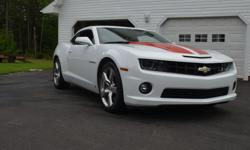 Make Chevrolet Colour white Trans Automatic kms 60421 FOR SALE 2010 Camaro SS 6.2 auto lots of extars sun and moon roof ac pw pm ect ect white with red strips nice shape 24500 warrenty SOLD