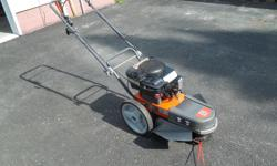 """Husqvarna Brush Mower Like New used only once. 6.5 hp with a 21"""" cut. Cost $600 new want $450."""