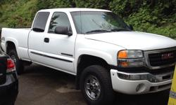 Make GMC Colour white Trans Automatic kms 270900 2004 GMC Sierra 2500HD SLE, Extended Cab, Short Box, 6.0L V8, Tow Package, Performance Chip System, Power windows, locks, A/C, Cruise Control - $6500 obo Km's are all highway travel. Selling because the