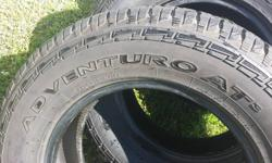 Make Toyota Model Truck Xtracab SR5 Year 2016 Colour TIRES For Sale Adventuro P275/65R/18 $160.00 first come first served price is firm tires almost like new for truck AT and winter . if you have inq please contact me 613-261-9925