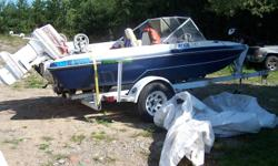 For sale 15'Glassthrone... Boat & 60 hp Johnson New seats and carpit .eagile fish finder. .2 down riggers.  Min kota troling moter. Large boat trailer.runs great.new battrey.am/ fm cd player   $2500.00  call mike