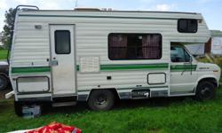ELITE CAMPER - FORD ECONOLINE 350. MOTOR FULLY SERVICED AND IN PERFECT RUNNING ORDER. ONLY 84138 KM. SLEEPS FOUR. NATURAL GAS LINES ALL NEW - DONE JUST ONE YEAR AGO. ACCESSORIES - TWO FRIDGES, STOVE, MICROWAVE. LOTS OF LITTLE EXTRAS FOR STORAGE AND