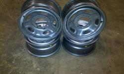 I have 8 bolt ford steel rims with sencers, no rubber   $175 obo