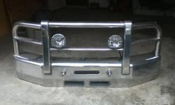 Polished Aluminum Bumper/Bush Bar Combination, Newer Style Ford Superduty F250 - F350.. Super Heavy Duty Construction never seen anything like it!  $1000.00 Firm  Contact Jesse (905)692 9947
