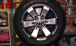 9000 kms. on this set of rims and tires, 275/55/20--- mint condition. No sensors Call 519-336-2367