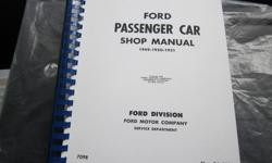 Ford passenger car shop manual for years 1949-1950-1951. New condition (613)830-8805