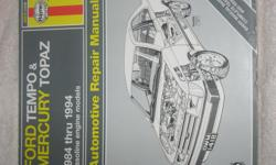 Haynes Automotive Repair manual for all years including V6 models from 1984-1994.