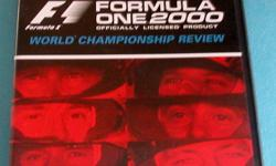 Formula One DVD - 2000 World Championship Review. Every Race in 2000 is featured.