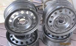 """I have a set of 4 15"""" steel winter rims never been mounted. Size of rims are 5 x 4 1/2"""" with a 2 3/4"""" wheel opening bore. Like I said brand new never been installed on a vehicle. Reason for selling is the 15"""" rim wouldn't clear my caliper.   $250.00"""