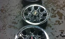 THIS IS FOR A SET OF FOUR 17X7.5 6X5.5 BOLT PATTERN 2011 GENERAL MOTORS CHROME CLAD FACTORY CHEVY CENTERCAPS ARE INCLUDED. Best offer Call 613-384-4098. This ad was posted with the Kijiji Classifieds app.