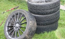 I have Four 18 inch motegi racing rims for sale id like to get $750 for them there $1200 worth of rubber on them