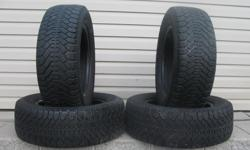 FOUR (4) GOODYEAR NORDIC WINTER TIRES SIZES /215/60/15/ GOOD TREAD REMAINING, ASKING $100 ( NO E-MAILS ) CALL (613)882-4075