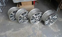 Chrysler product, set of four chrome rims, 15X 6.5 J