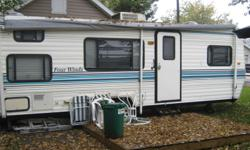 1996 26 ft four winds trailer keept in great condition  has all emenities heat, air conditioning, full bathroom two bunk beds, futon, and its own bedroom with qween size bed  sleeps 7 everything  wooks great new canopy being put on in spring of 2012