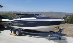 2005 Four Winns Horizon 200 bowrider. 305 - volvo penta. Full canvas top, bimini top,am/fm sirrus radio and CD player. Matching tandem trailer. Only 160 hours. Excellent condition. $20,000 . Call Dennis at 250-938-0225.
