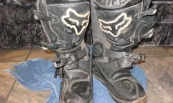 i have a pair of fox motocross boots for sale worn by Blair Morgan in 2006 good condition 150 o.b.o