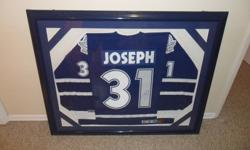 I'm selling this large framed signed jersey of cujio (Curtis Joseph). It comes with a certificate of authenticity   Asking $500.00 or make an offer Check out my other adds.