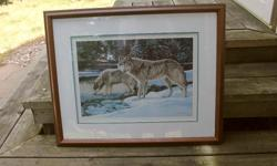 """For sale is a limited edition framed, numbered print entitled """"At the Stream"""" by Lissa Calvert as shown in the pictures. The dimensions are 26 inches wide by 21 inches high."""