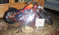 This is the billy bike from the movie easy rider . it is in mint condition , with certificate .in the orig box , never on display.