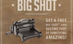 If you've been looking for an opportunity to do what you love, while getting a 20 discount on your favourite products, now is the perfect time! During October, you'll get a FREE Big Shot when you join the Stampin' Up! family as a demonstrator.*(or up to