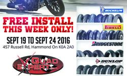Free Install This week Only Sept 19th to Sept 24th 2016 457 Russell Rd Hammond On K0A2A0 Come in or Call now!!! 613-487-7823 info quadexpert.com
