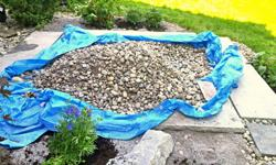 FREE river stones for landscaping.