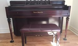 Fine Everet apartment sized piano - 16 years with us, we paid $2,500. Now downsizing. easy access for moving by purchaser.