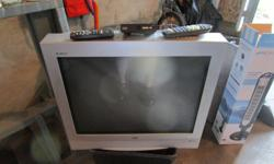 free RCA tv with digital converter box 27 inch tru flat, works excellent located near appleton, between carleton place and almonte pick up only