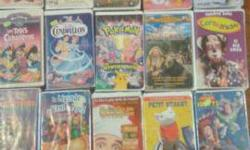 have about 36 french vhs children movies asking 4 for $1 / 25 cents each /make me an offer for all call 613-323-1757