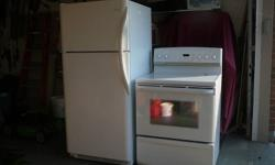 Fridgedaire Fridge and Stove for sale. Fridge 18.4 cu. ft. $375 Stove ceramic top, self cleaning, convection oven $275 Both in excellent condition. Will sell set for $550 or separately for above prices. Call 519-583-1534.