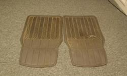 Two Grey Front Driver and Passengar car mats. One of the mats has a small hole Two grey back seat floor mats. Asking $12.00