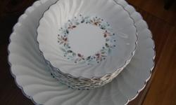 "I have a set of Fruit Bowl with 10 small fruit dishes.....I bought these 30 years ago at a china shop but have never used them.....they have been stored in my cupboard....mint condition.   The pattern is ""Snowhite Regency""  by Johnson Bros, made in"