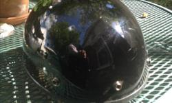 Black Fuel DOT motorcycle helmet for sale, size small.
