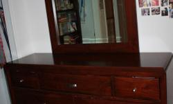 Queen Bed, dresser and night stand, High quality was over $3000 new