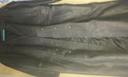 Black Original leather jacket with lining for sale as leaving town.