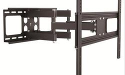 """Full Motion Dual Arm Articulating TV Wall Mount for 37"""" to 70"""" TV -This full-articulation swivel mount for flat-panels up to 110lb./50kg. Typically fits flat screen displays from 37"""" - 70"""" or displays with a mounting pattern between 200x200mm to"""