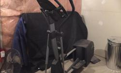 Full size elliptical machine, everything works except the cd player. Bought used a little over a year ago for $250. It's been maintained and lubricated recently and works great. I've lost 70lbs this year, hopefully it can help someone else do the same.