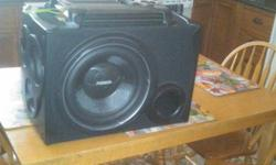hello iam selling my fusion power plant. all details on the pictures of the box. the package comes with sub, amp, box and wires. sub is 1200 watts and amp is 1000wts i will consider selling just the sub and box and wires for 300