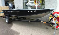 A popular all-season boat for the avid outdoorsman, the Guide V 143 T features a one-piece welded hull with full length riveted keel, skid-resistant marine grade vinyl floor, aerated livewell and a large deck layout with lockable storage. Economical to