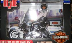 Great Christmas Gift for the man who thinks he has everything for his Man Cave.This listing is for a G.I. Joe Electra Glide Harley Davidson Motorcycle Police Officer. Price is firm you can call me at 905-357-2388