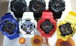 I am selling brand new, never used casio G shock watches. These have never been worn and i have the boxes for the watches. The colours I have are; blue, red, black and blue, white, and all black. GREAT christmas gift! email me if you would like to see
