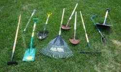 Various gardening tools for sale. Only $10 each. We are located in Orleans. See our list of other items for sale. First come, first served.