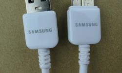 WHITE BRAND NEW ORIGINAL AND GENUINE SAMSUNG TWO PRONG USB 3 DATA CABLE FAST CHARGER AND DATA SYNC WIRE FOR SAMSUNG SMART PHONES SAMSUNG GALAXY S5 AND SAMSUNG NOTE 3. THIS AUTHENTIC SAMSUNG FAST CHARGER CABLE FOR GALAXY S5 OR NOTE 3, CHARGES THE PHONE LOT