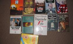 I have 10 books in german language, from a smoke free and pet free home. You can see title on the pictures.
