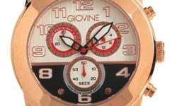 GIOVINE CHRONOGRAPH Collection Made in Italy Brand New Gentlemens Chronograph Watch retails $741.00 im asking $100 call me at 1-705-578-2343 elliot lake will ship at buyers expence itemWatch original brand name http://www.giovine.net/