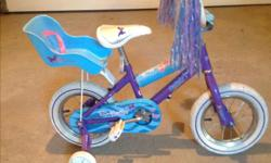 Girl's 12 inch bike with training wheels $30