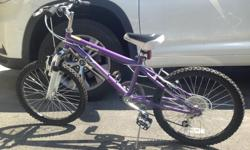 """18"""" wheel - excellent condition Purple and White 60$ or best offer"""